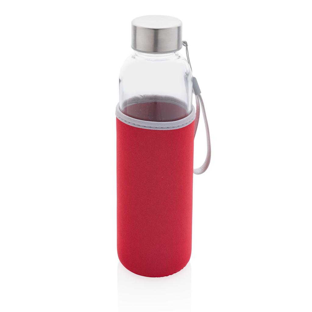 Glasflasche mit Neopren-Sleeve