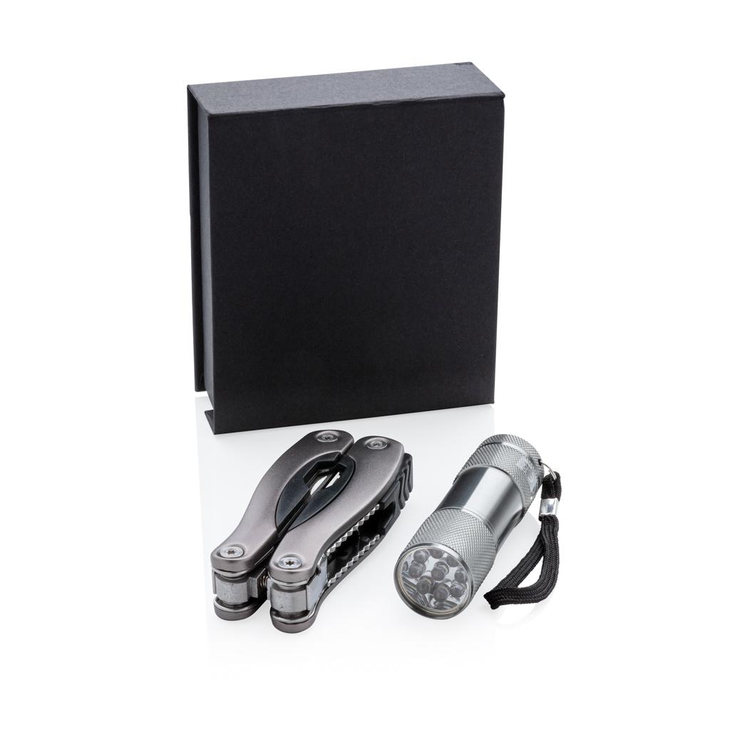 Multitool und Taschenlampen Set