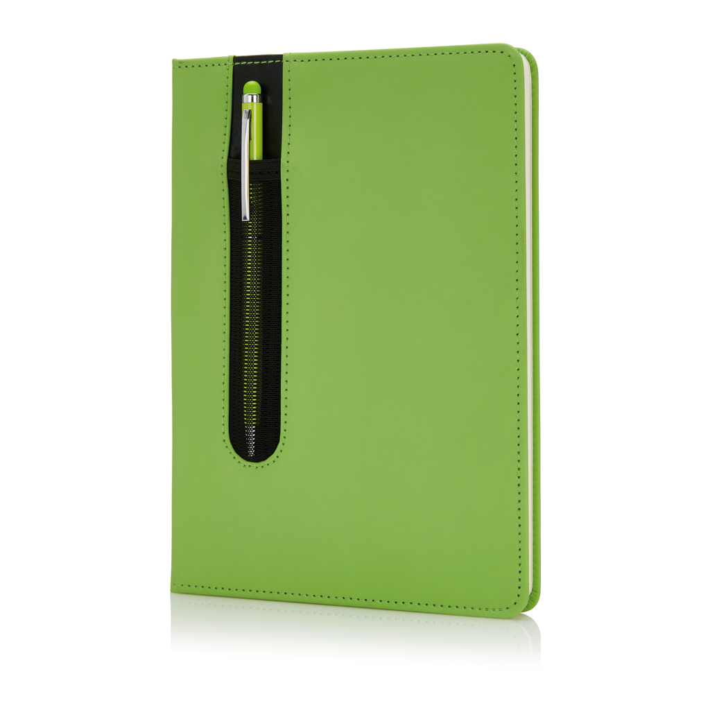 Basic Hardcover PU A5 Notizbuch mit Stylus-Stift