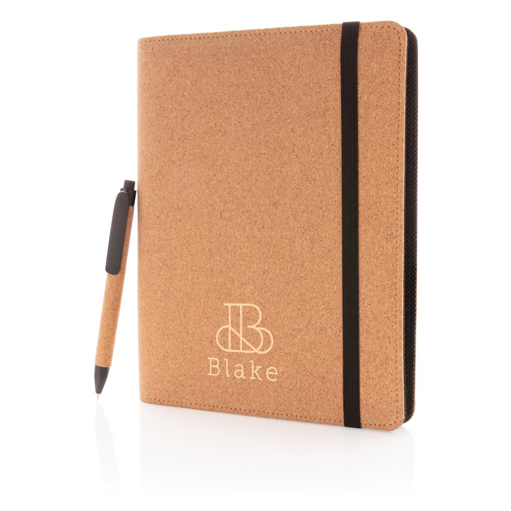 Deluxe Kork Portfolio A5 mit Stift