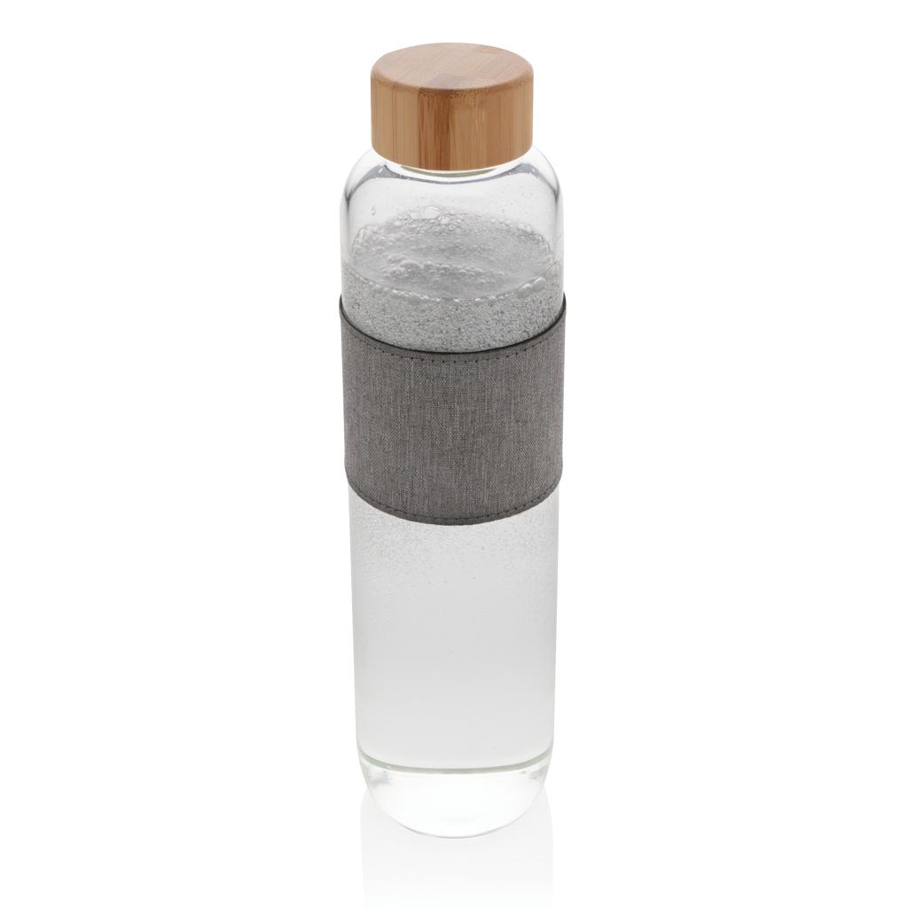 Impact Borosilikat-Glasflasche mit Bambusdeckel