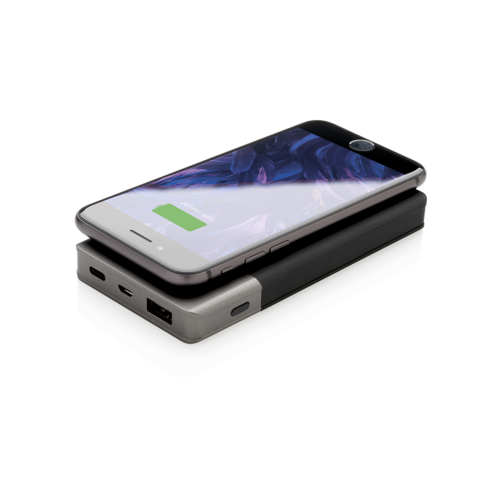 5.000 mAh Soft Touch Wireless 5W Charging Powerbank