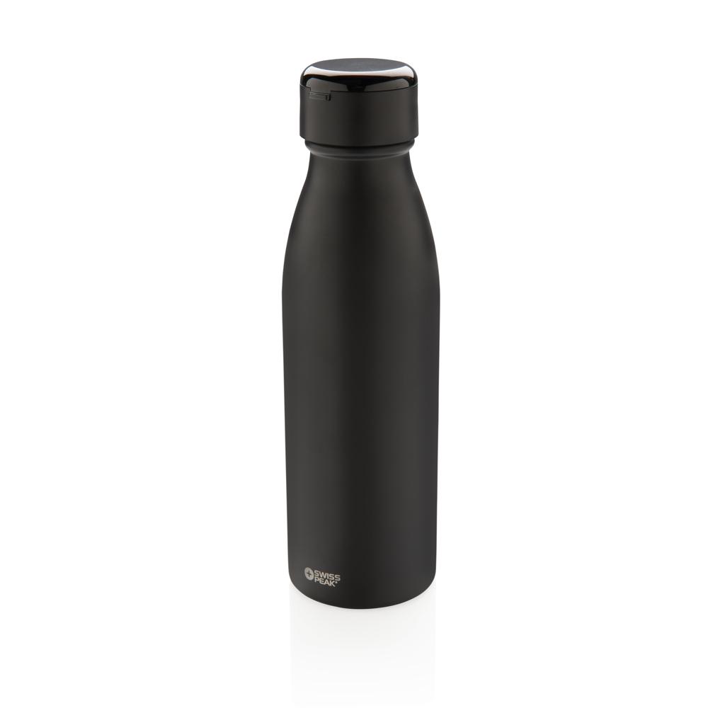 Swiss Peak Vakuum Flasche mit Mini True-Wireless Kopfhörern