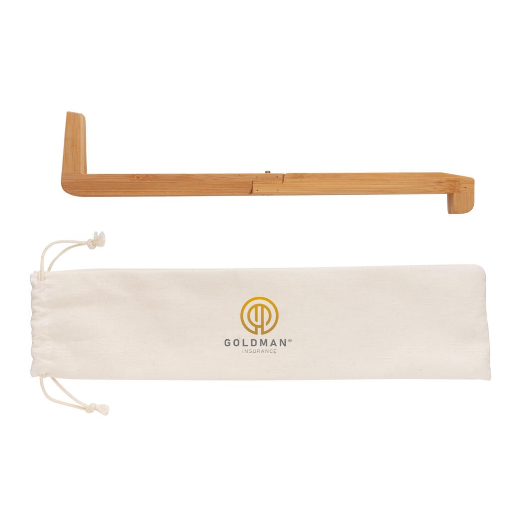Tragebare Bambus Laptop-Stütze
