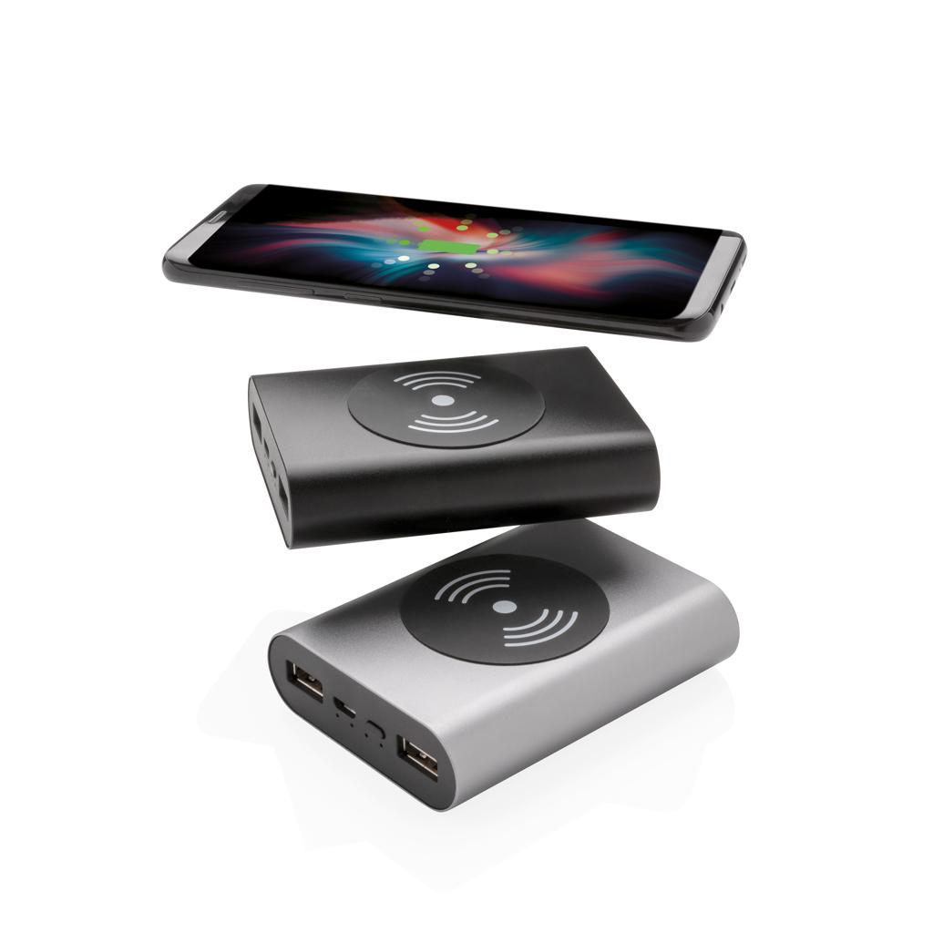Aluminium 5.000 mAh Wireless 5W Pocket Powerbank
