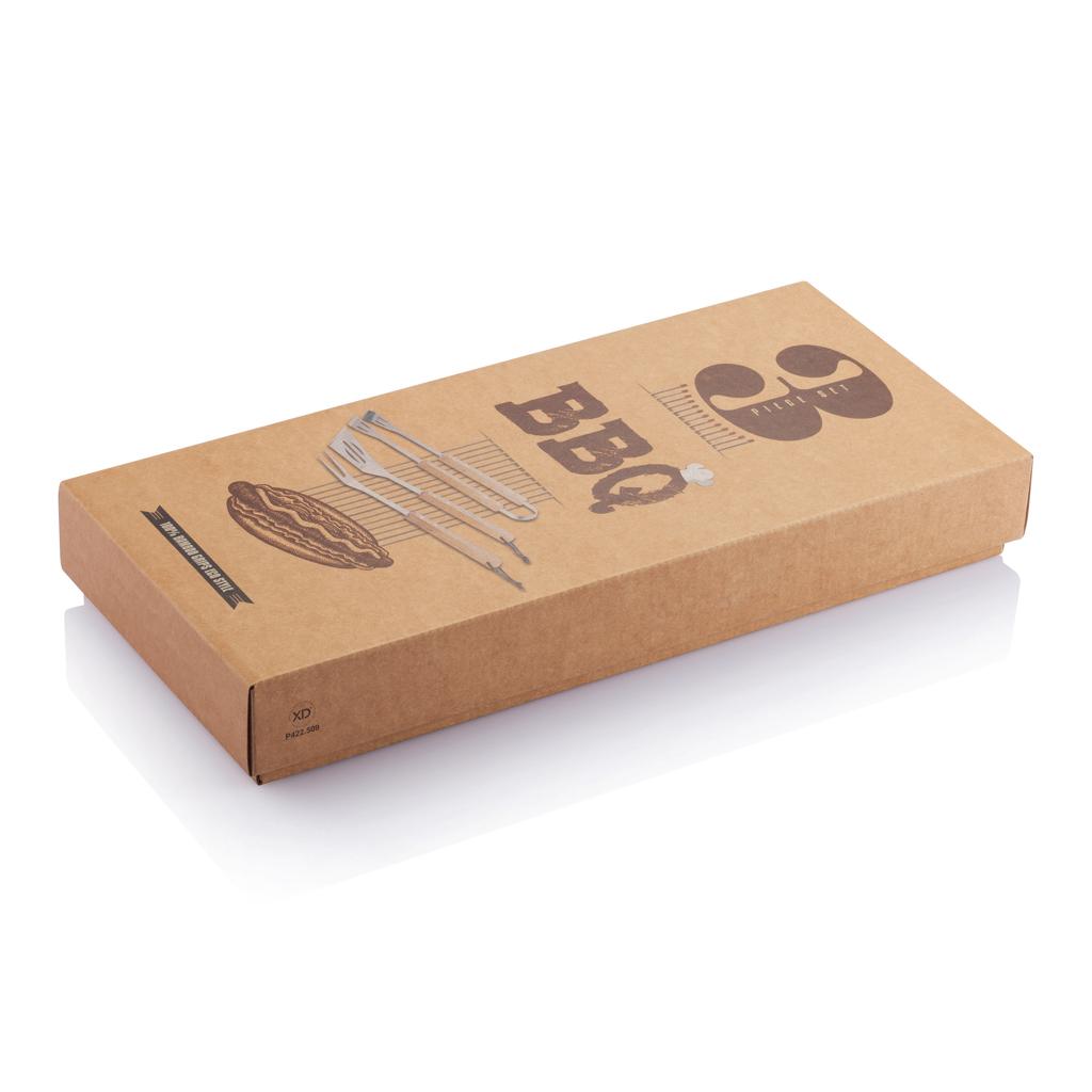 3tgl. Bambus Grillset