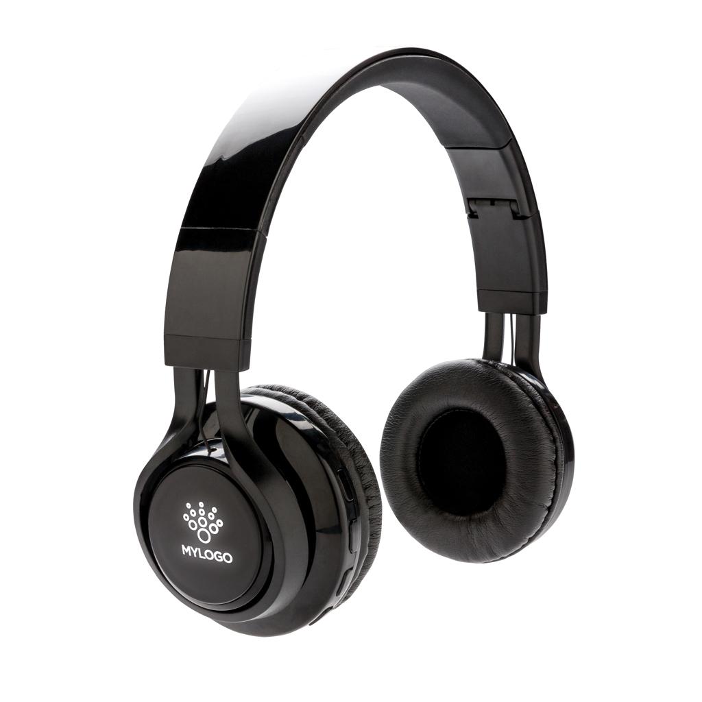 Wireless Kopfhörer mit leuchtendem Logo