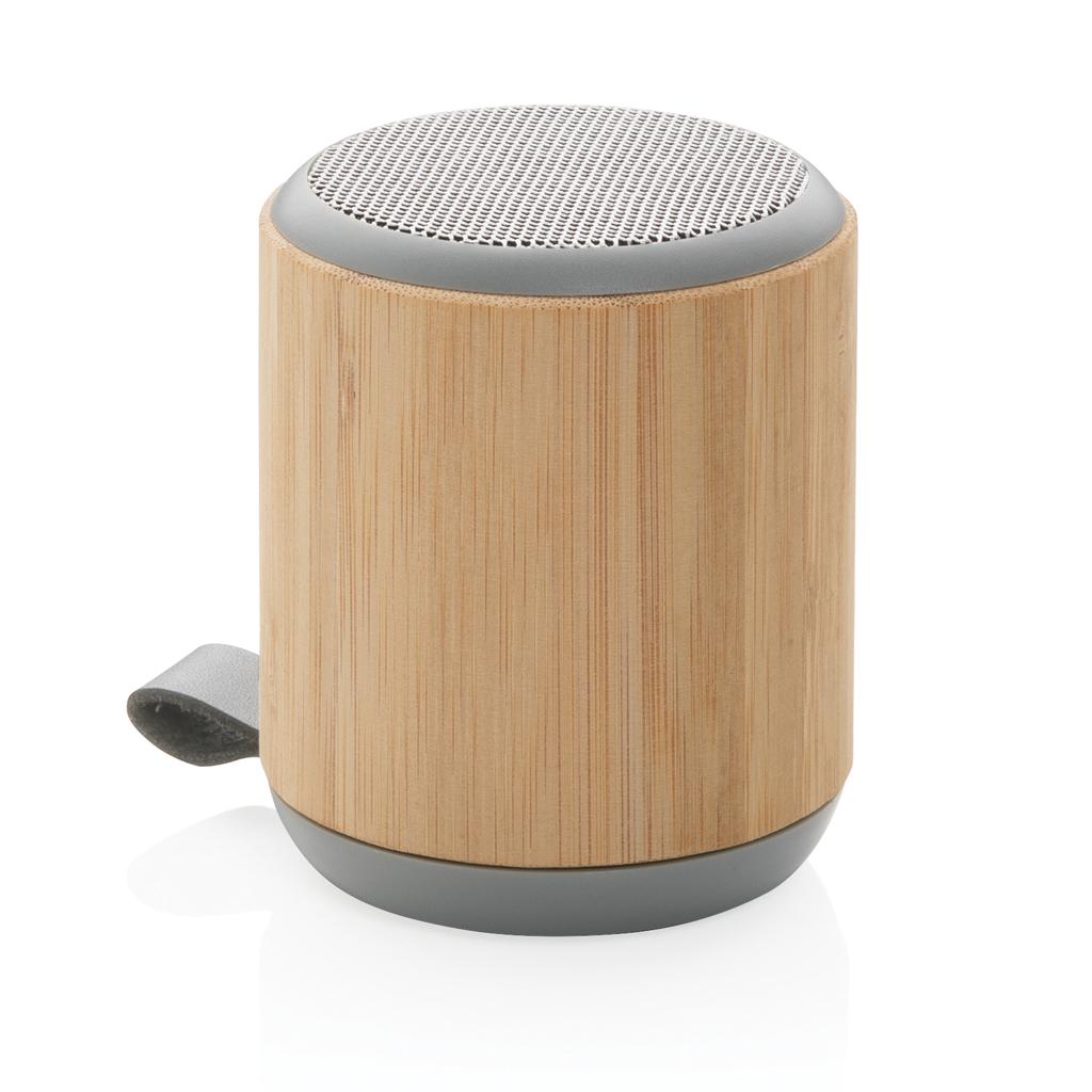 Bambus und Stoff 3W Wireless Speaker