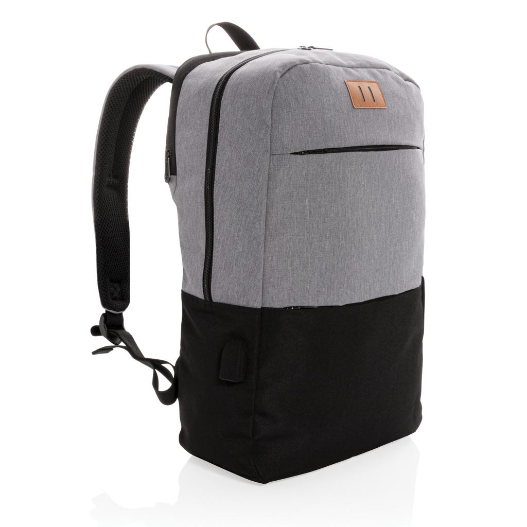 """""""Moderner 15.6"""""""" USB & RFID Laptop-Rucksack, PVC-frei"""""""